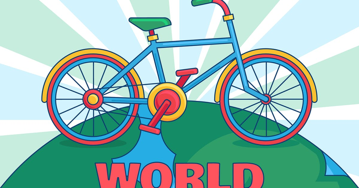 Download World Bicycle Day With Earth Illustration by barsrsind