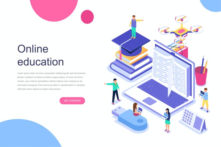 Thumbnail for Online Education Isometric Concept
