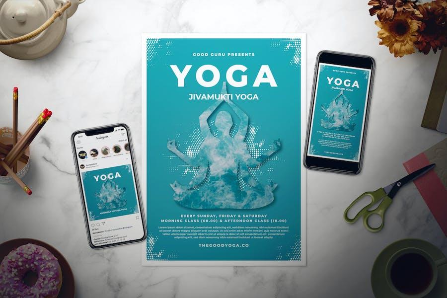 Zen Yoga Flyer Set