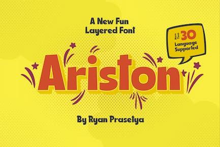 Ariston Layered Font