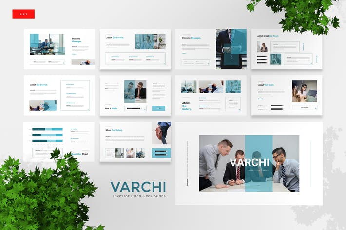 Thumbnail for Varchi - Investor Pitch Deck Powerpoint Template
