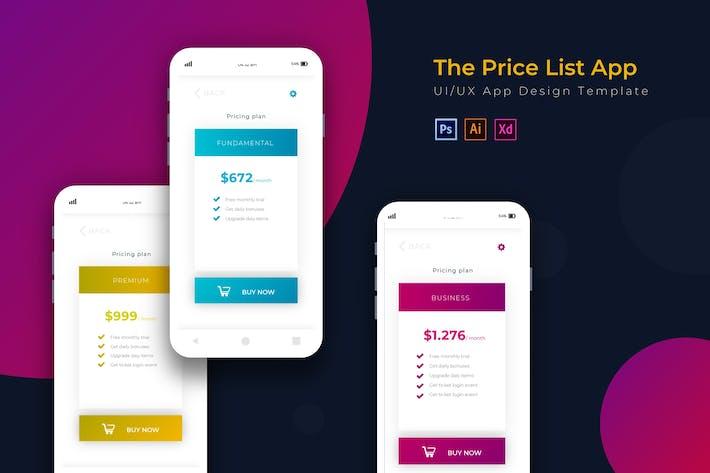 Thumbnail for Price List | App Design Template
