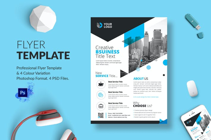 Thumbnail for Business Flyer Template 14