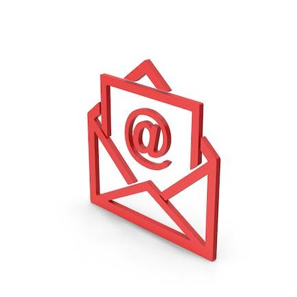 Symbol Email Envelope Red