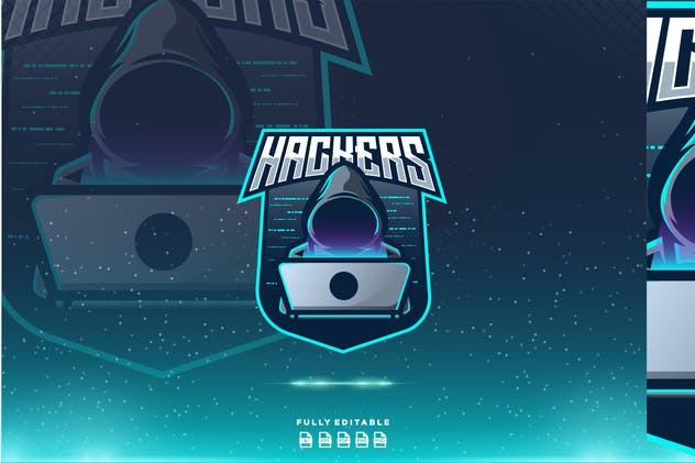 Hackers Anonymous  Esport Gaming Logo - product preview 0