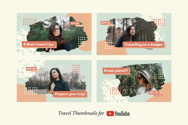 Travel YouTube Thumbnails