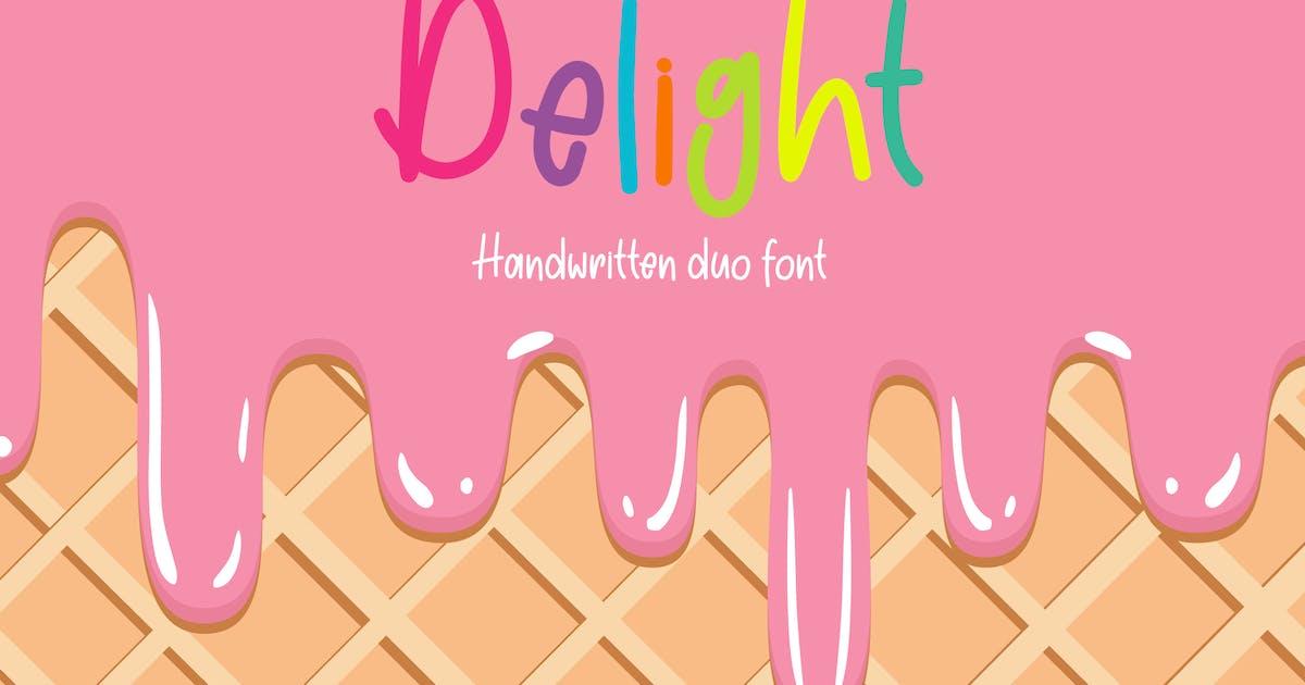Download Sweet Delight - Handwritten Duo Font by deTheme