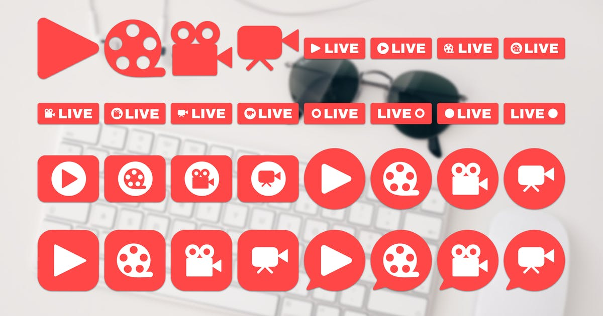 Download Social Live Stream Icons Set by barsrsind