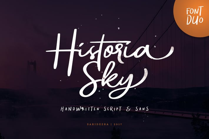 Thumbnail for Historia Sky - Font Duo