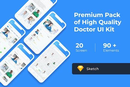 Doctor App UI KIT for Sketch