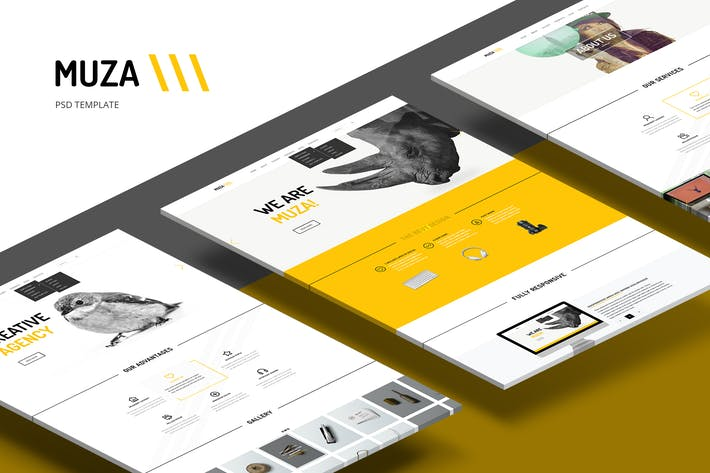 Thumbnail for Muza — Creative Portfolio or Agency PSD Template