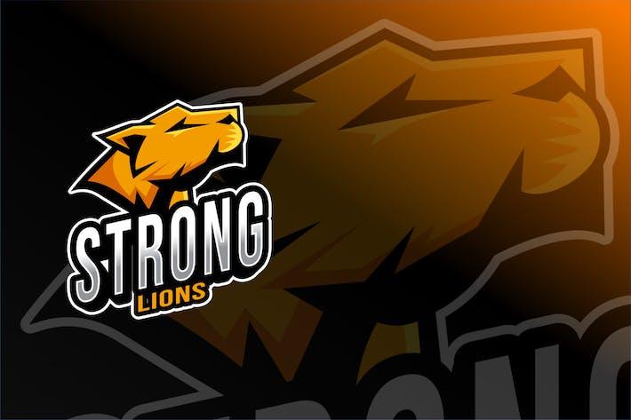 Strong Lions Esport Logo Template