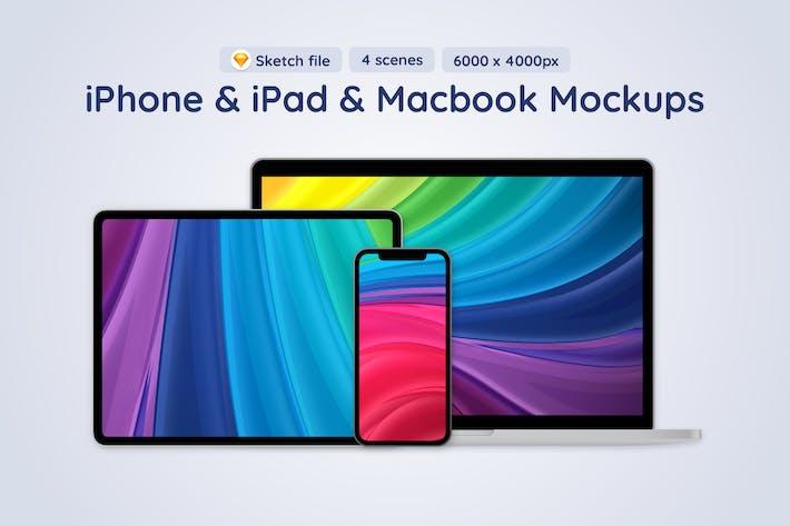 Apple Mobile Devices - 4 Sketch Mockups