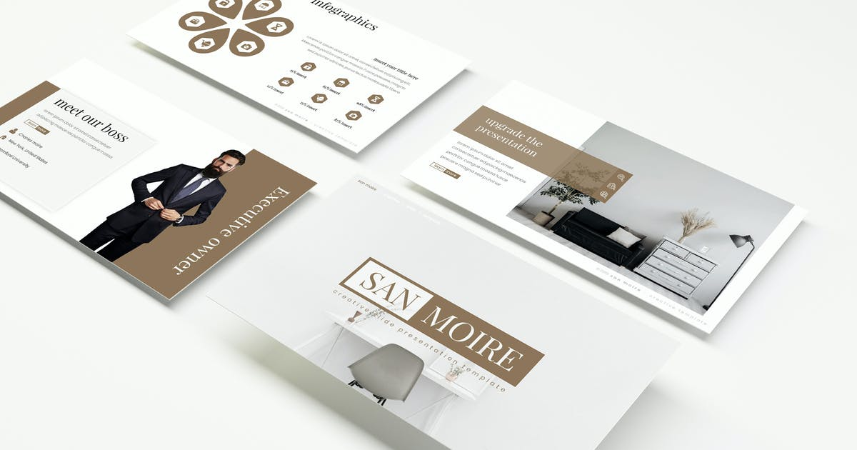 Download San Moire - Powerpoint Template by IanMikraz