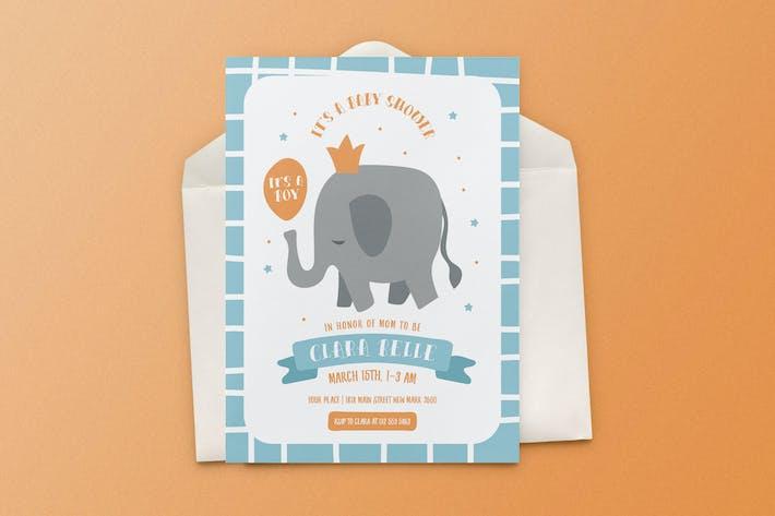 Thumbnail for Baby Shower Invitation Elephant Theme