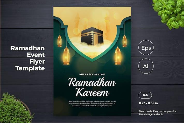 Thumbnail for Ramadan Kareem Event Flyer AI Template (GI)