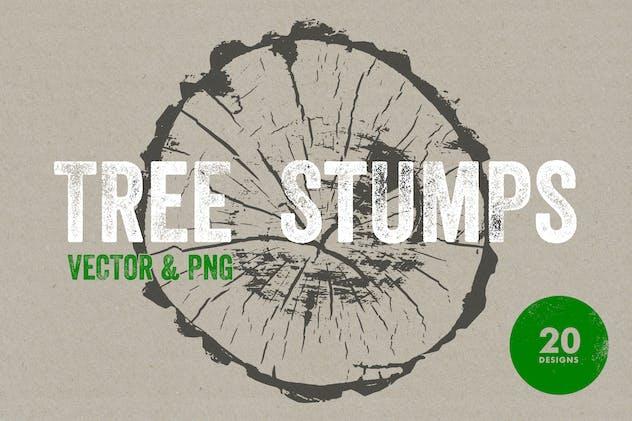 Tree Stump Textures - Vector & PNG