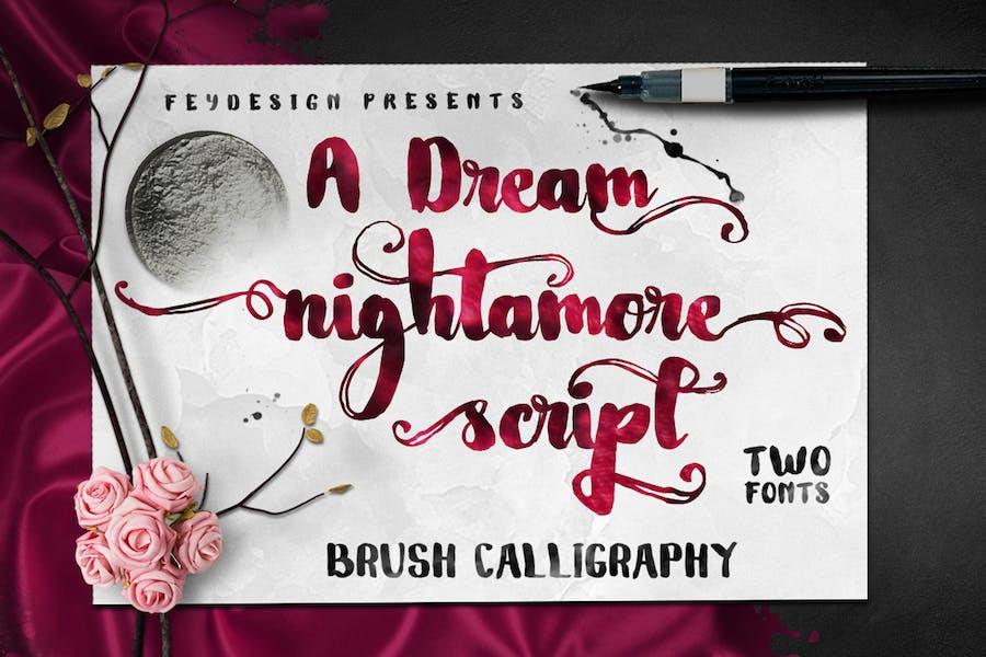 Nightamore - Brush Font