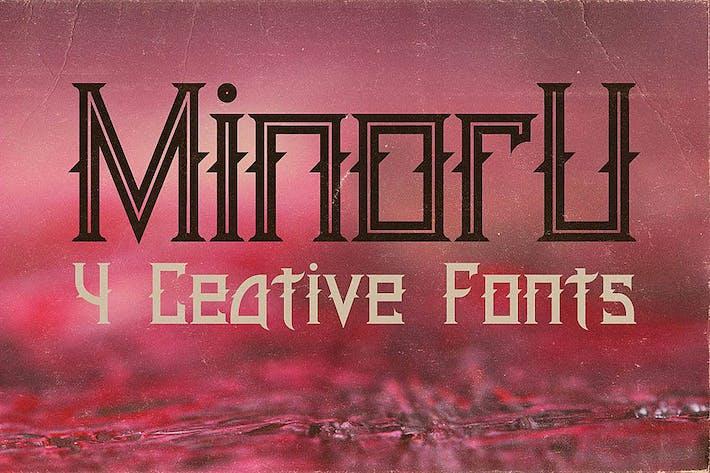Thumbnail for Minoru Font