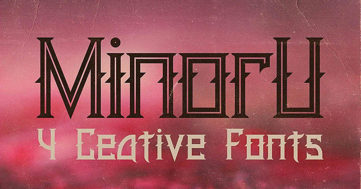 Download Minoru Font by cruzine