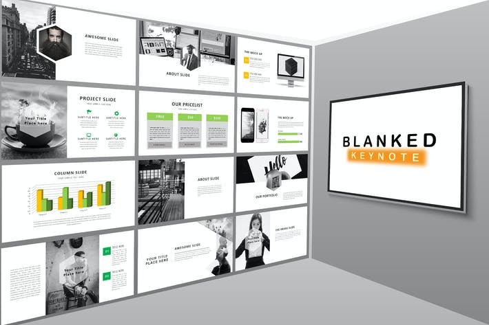 Thumbnail for Blanked - Keynote Template