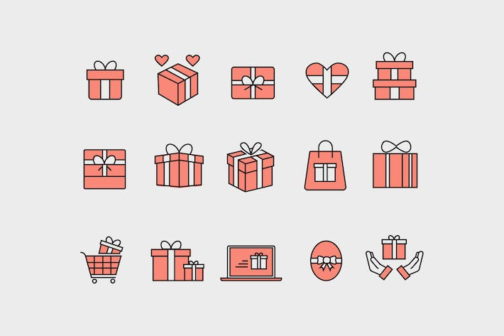 Cover Image For 15 Gift and Present Icons