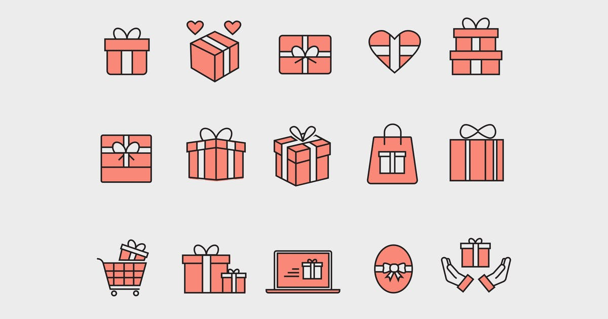 Download 15 Gift and Present Icons by creativevip
