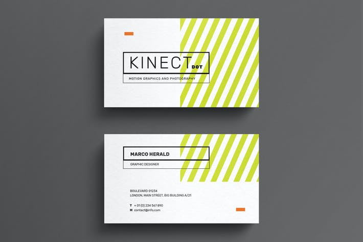 Thumbnail for Minimal striped business card template