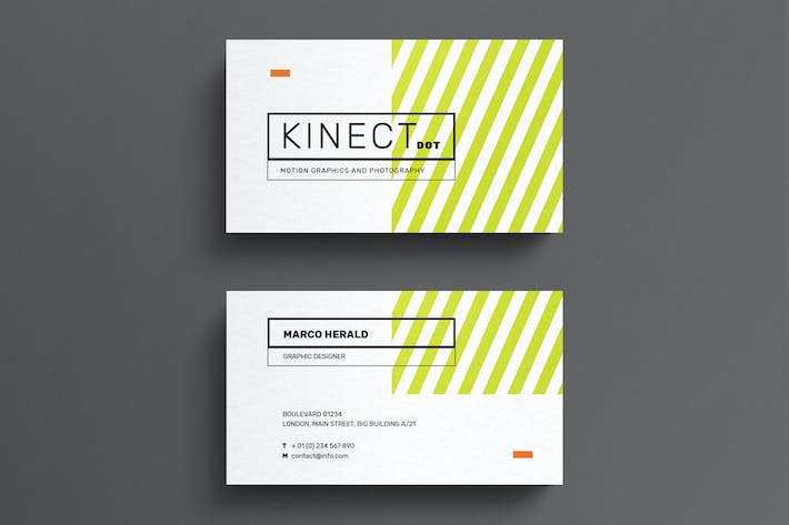 minimal striped business card template by eightonesixstudios on