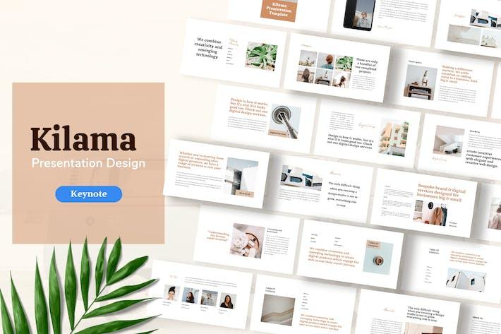 Thumbnail for Kilama - Keynote Шаблон презентации продукта