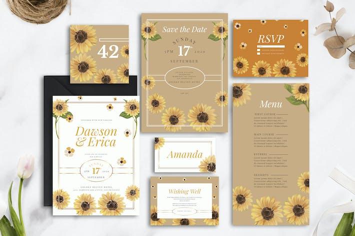 Thumbnail for Sunflower Painting Theme - Wedding Invitation