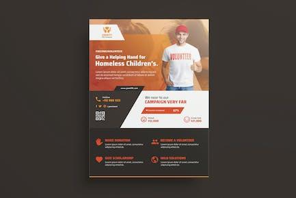 NGO, Charity,Fundraising Flyer