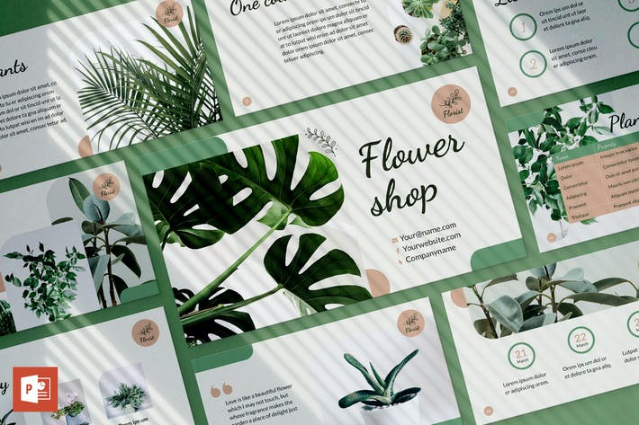 Thumbnail for Flower Shop PowerPoint Presentation Template
