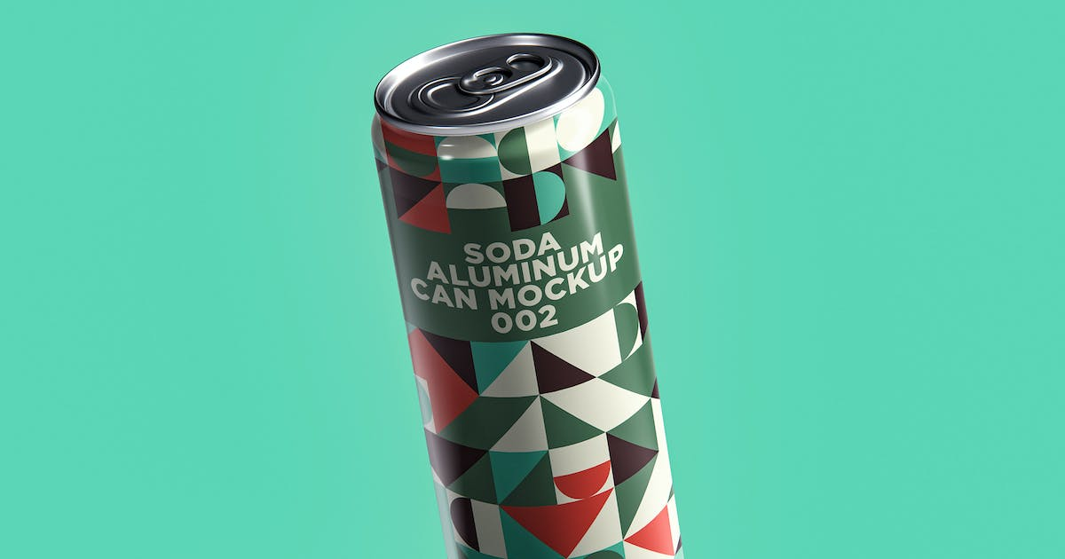 Download Soda Aluminum Can Mockup 002 by traint
