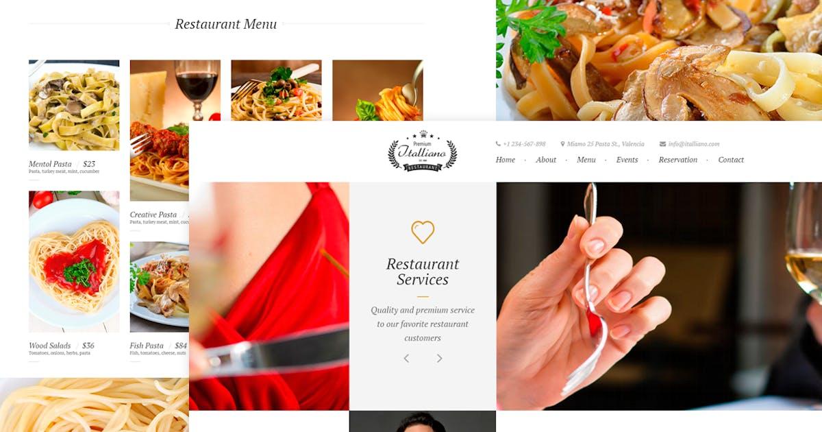 Download Italliano - Clean Premium Restaurant Template by EvathemeMarket