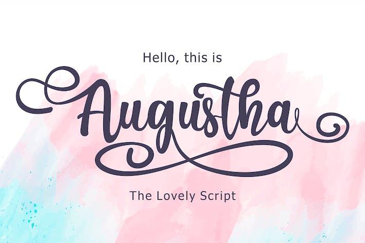 Thumbnail for Augustha - Lovely Script Font