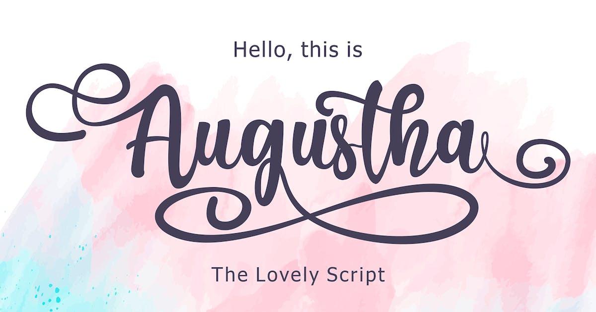 Download Augustha - Lovely Script Font by deemakdaksinas