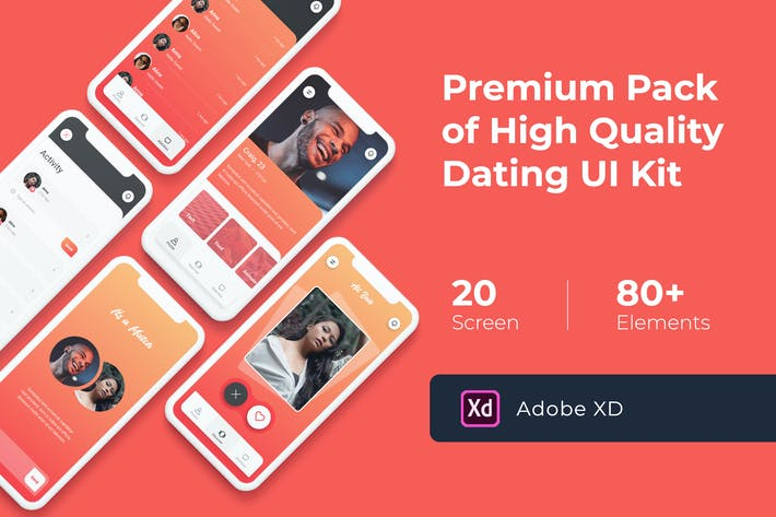 Thumbnail for Dating Mobile UI KIT for XD