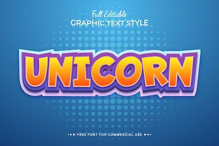 UNICORN - Editable Text Effect, Font Style