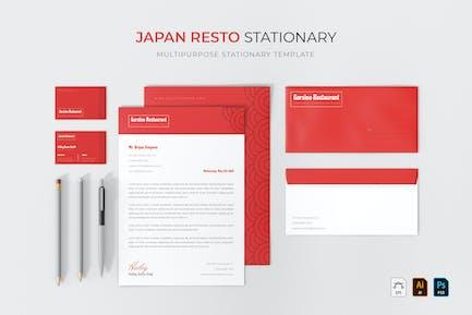 Japan Resto | Stationary