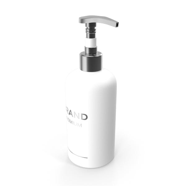 White Cosmetic Pump Bottle