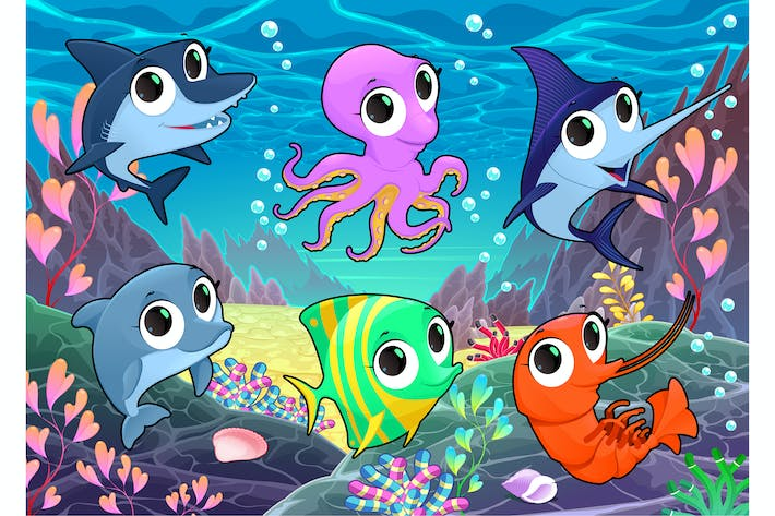 Thumbnail for Marine Animals in the Sea