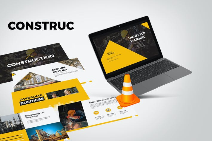 Cover Image For Construction Keynote Templates
