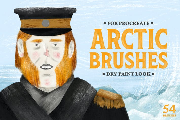 Thumbnail for Arctic Dry Brushes for Procreate