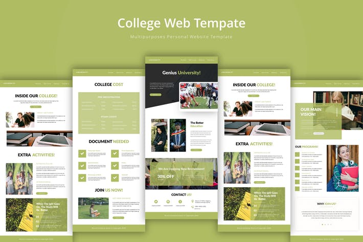 Thumbnail for University Web Template