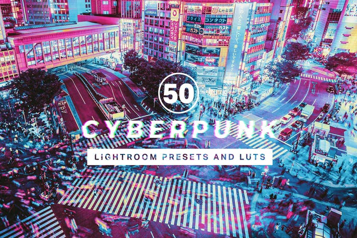 Thumbnail for 50 Cyberpunk Lightroom Presets and LUTs