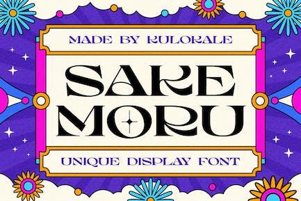 Sake Moru Unique Display Font