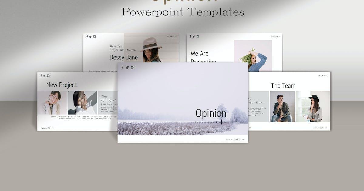 Download OPINION - Minimals Powerpoint Template by joelmaker