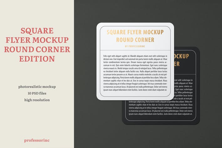 Thumbnail for Square Flyer Round Corner Mockup