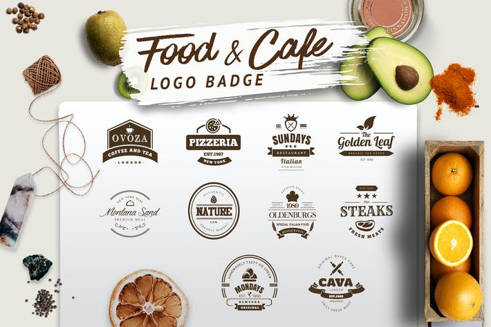 Thumbnail for Food and Cafe Logo Badge